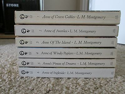 Lot of 6 ANNE OF GREEN GABLES Series Paperbacks, L.M. MONTGOMERY