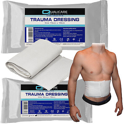 Qualicare Sterile FFD Bandage Wound Blood Clot Haemostatic Field Trauma Dressing