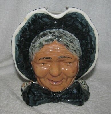 Vintage Pioneer Woman Toby Jug Cash Family Southern Pottery Blue Ridge Erwin TN