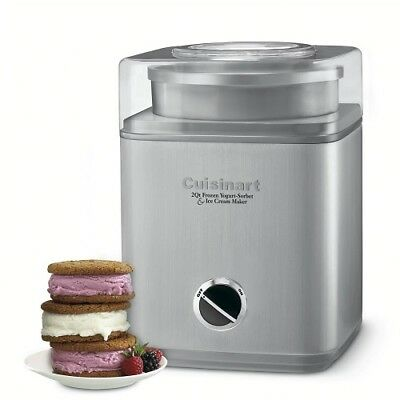 Automatic Ice Cream Maker Two Quart Stainless Steel Frozen Sorbet Yogurt Recipes