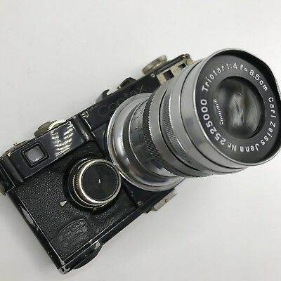 Zeiss Ikon Contax I camera film with 8.5cm f4 for parts