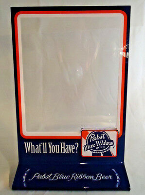 Pabst Blue Ribbon Beer Plexiglas Store/ Bar Double Sided Display