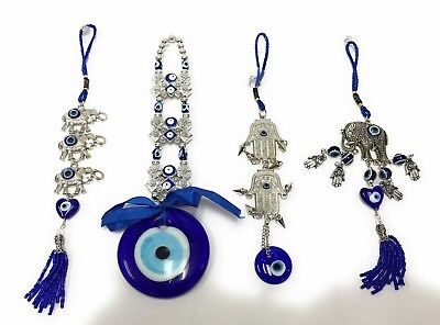 Blue Evil Eye Amulet Wall Car Hanging Charm Decor Lucky Protection And Bracelet