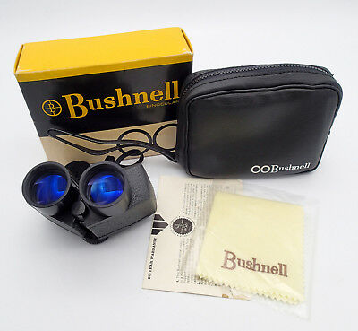 Vintage Bushnell Custom Compact Binoculars 10-7261 7X26 CF w Box Great Cond!