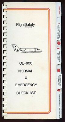 Cl-600 Normal And Emergency Checklist