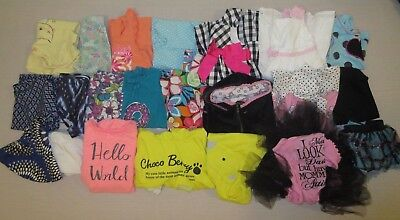 Lot of 21 Pieces Toddler Baby Girl Mixed Clothes 24 Months 2T-3T