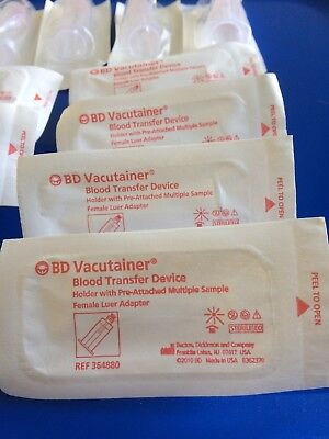 BD Vacutainer Blood Transfer Device Ref 364880 Qty 30