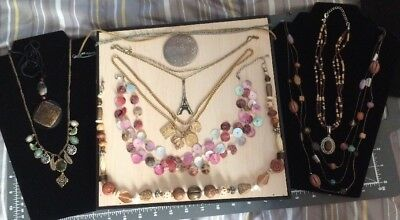 Lot Of 9 Preowned Fashion Necklaces Lia Sophia Coldwater Creek Lucky Brand Avon