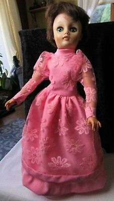 """Reliable Made In Canada Doll 18"""" Brown Hair 1970's? Goddess Jade Dolls"""