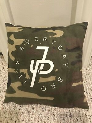 Jake Paul JP Green Camo Pillow Excellent
