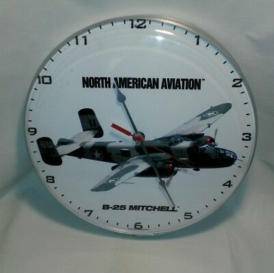 ☆ North American Aviation B-25 Mitchell Wall Clock Free Shipping