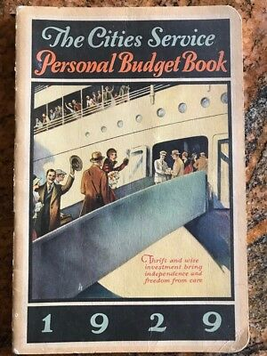 1929 Cities Service Gas & Oil Co.  Personal Budget Book  Unused