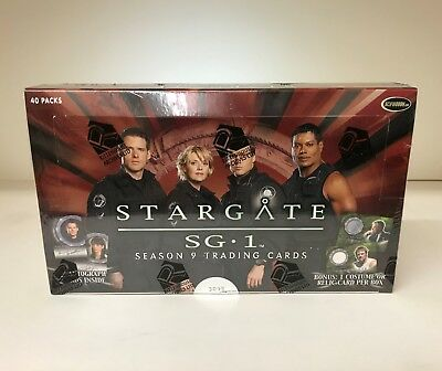Stargate SG1 Season 9 - Sealed Trading Card Hobby Box - 40 Pks, Rittenhouse 2007