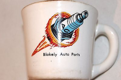 ULTRA-RARE Antique Blakely Auto Parts Automotive Advertising Coffee Mug Cup!
