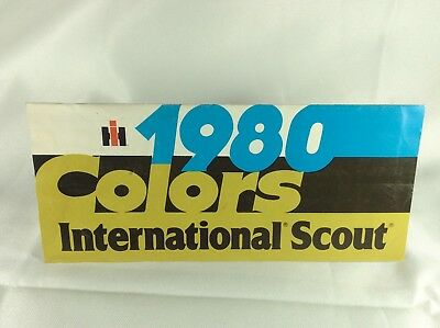 1980 Scout Colors Brochure AS-IS please read