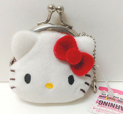 Sanrio Hello Kitty Plush Mini Coin Purse From Japan kawaii