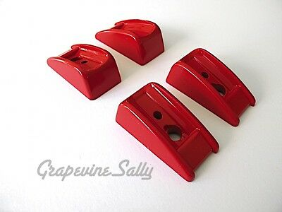 Wedgewood Vintage Stove Parts 4 Oven Door RED Handle Bakelite Trim -2 per handle