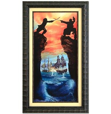 "Pirates of the Caribbean ""Caribbean Duel"" J Rowe Signed Disney Fine Art Giclee"
