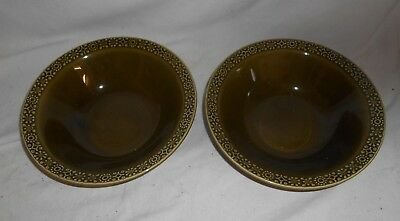 STUNNING Pair of GREEN Dishes Bowl by CELTIC Connemara IRISH Earthenware 23cms