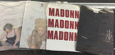 Lot of 4 USED Madonna concert  t-shirts - RARE