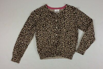 Hanna Andersson Girls Cardigan Sweater Size 140 Cheetah Leopard 10 12