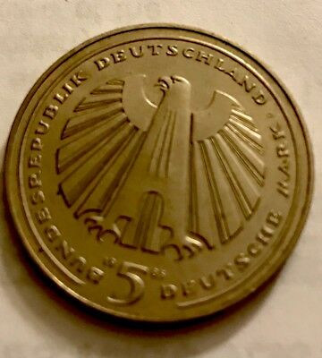 1985 Germany 5 Mark Commemorative - 150 Years Of Railroad