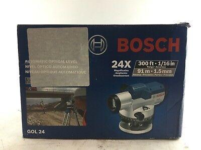 Bosch 11.75 in. Automatic Optical Level Kit with 24x Magnification Power Lens