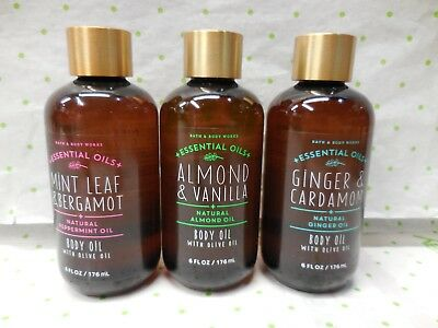 Bath & Body Works  BODY OIL With Olive Oil Please Choose Full Size Free Ship