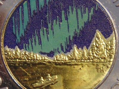 Rare Rare Coin 2017 Glow In The Dark Toonie White Mountains Paint Error Unc/coin