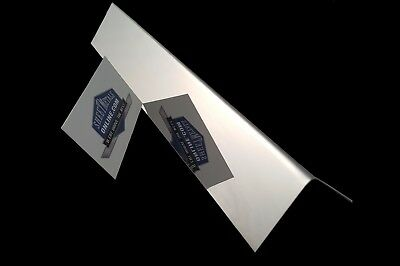 """Mirror Finish Stainless Steel Angle 304 #8 20g 6"""" x 2"""" x 2"""""""