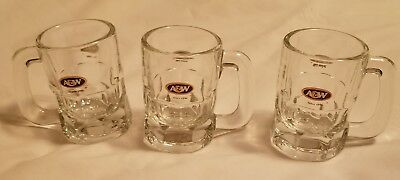 A&W Root Beer 3 Inch Mini Mugs Since 1956