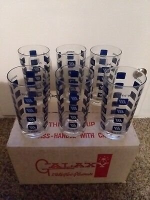 Maytag advertising drinking glasses set of 6 Galaxy Glassware Rare!