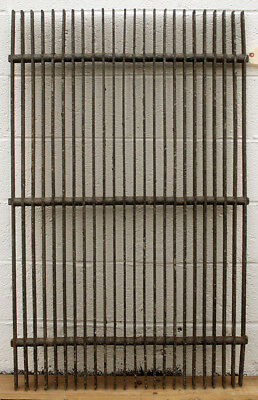 "9 avail 30""x48"" Antique Vintage Cast Iron Fence Panel Grille Industrial Factory"