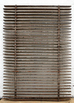 35x48 Antique Vintage Cast Iron Metal Gate Fence Panel Grille Industrial Factory