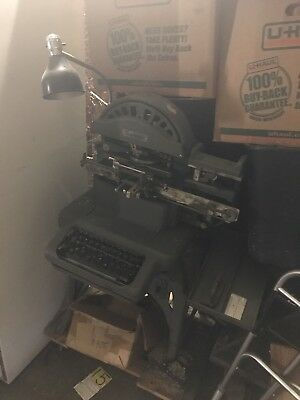 Vintage Graphotype Machine . Dog Tags / I.d Plates
