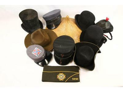 Group of Ten Hats (Top Hat, Derby and More) Lot 966