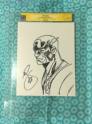 MARK BROOKS Original Art CAPTAIN AMERICA sketch CGC certified signed avengers 1