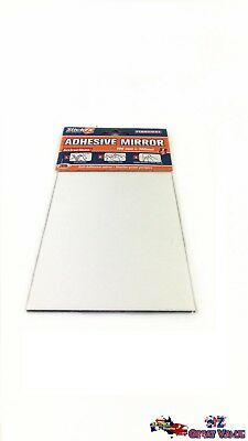 Self Adhesive Mirror 10cm x 14cm Shatter Proof Perspex Home Office HAR-256