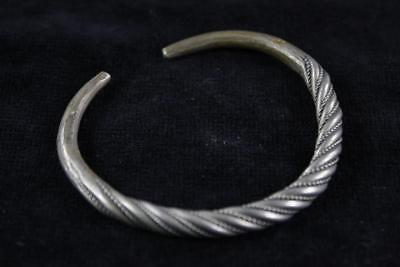 ANTIQUE 19th Century CHINESE MIAO TRIBE SILVER COPPER HAND MADE TWIST BANGLE