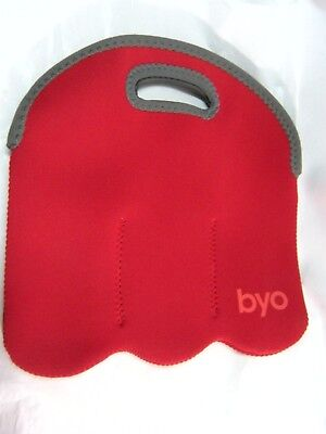 BYO Six Pack Holder Red and gray #H