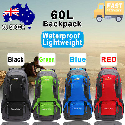 60L Large Camping Backpack Rucksack Bag Luggage Outdoor Climbing Hiking Travel