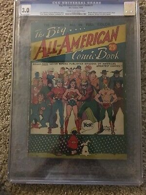 Golden Age DC Big All American NN CGC 3.0 CGC Not CBCS