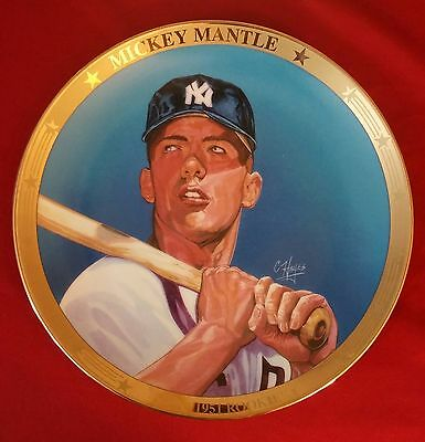 """Sports Impressions Plate """"1951 ROOKIE""""  Mickey Mantle  #ED NEW YORK YANKKEES"""