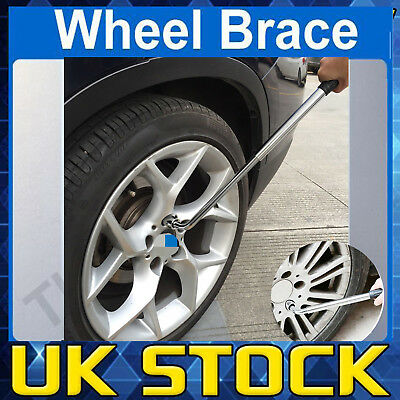 UK Extendable Car Van Wheel Brace Socket Wrench Tyre Removal 17mm 19mm 21mm 23mm