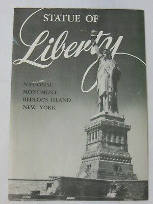 Rare Antique New York City Statue Of Liberty Tour Guide Booklet Map Vintage 1952