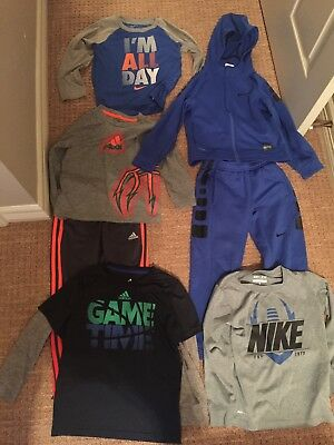 lot of EUC boys Nike and Addidas clothes size 6