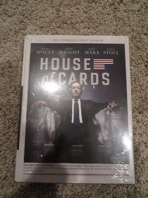 House of Cards: The Complete First Season (DVD, 2013, 4-Disc Set) New and Sealed
