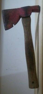VINTAGE Sears Red Fire Wood Camping Craftsman Axe Antique Tool USA MADE