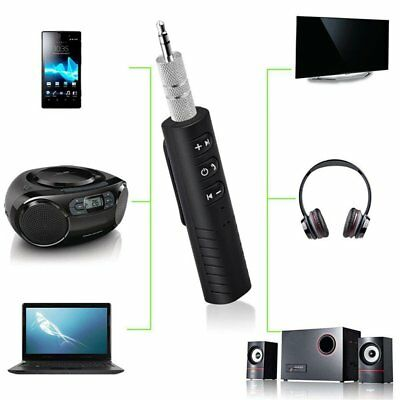 Wireless Bluetooth V4.1 3.5mm BUX Audio Stereo Music Home Car Receiver Adapter !