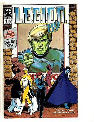 Lot Of 10 Legion 89' DC Comic Books # 1 2 3 4 5 6 7 8 9 10 Superboy Lobo CR6
